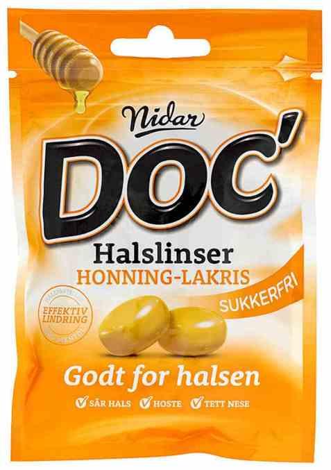 Bilde av Nidar Doc Halslinser Honning-lakris.