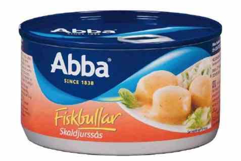 Bilde av Abba fiskbullar i skaldjurssås.