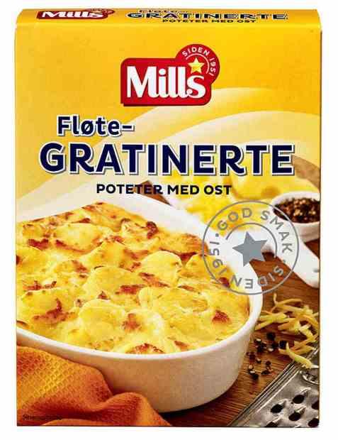 Bilde av Mills fløtegratinerte poteter med ost.