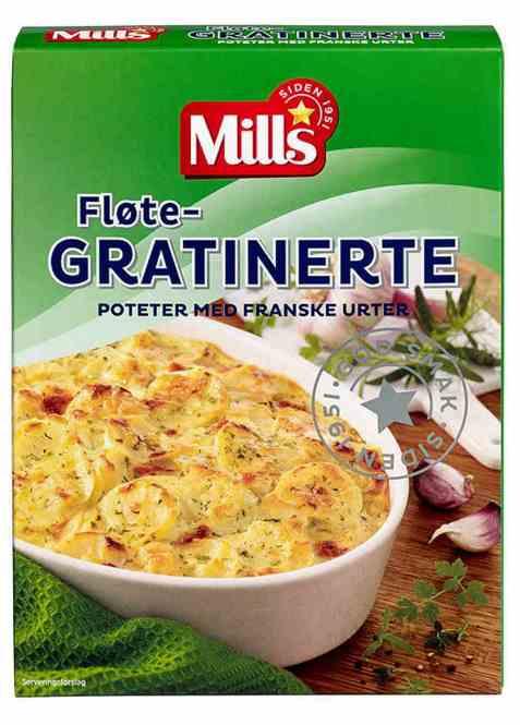 Bilde av Mills fløtegratinerte poteter med franske urter.
