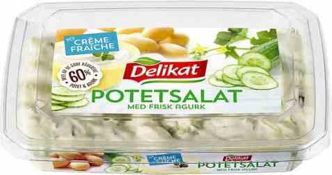 Bilde av Delikat potetsalat og agurksalat.