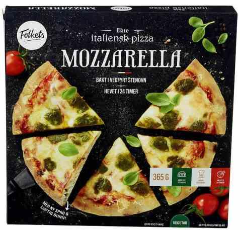 Bilde av Folkets pizza mozzarella.