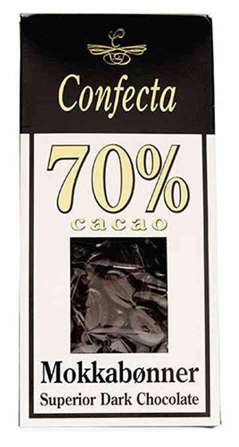 Bilde av Confecta mokkabønner med 70 prosent cacao.