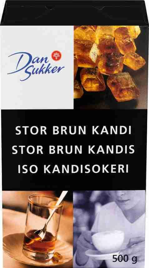 Bilde av Dansukker Stor Brun Kandis.