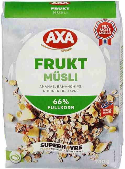 Bilde av Kornblanding, med frukt, AXA Fruktmüsli.