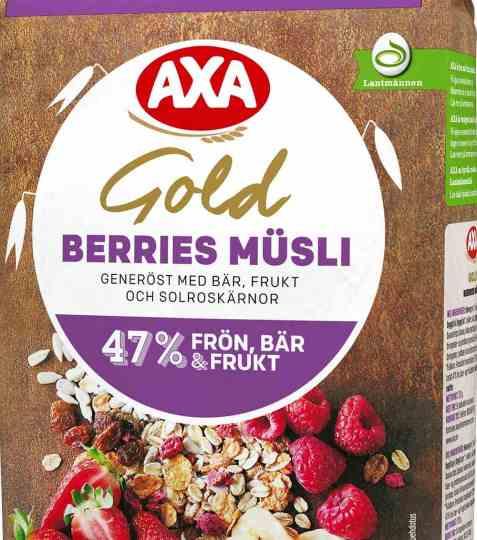 Bilde av AXA gold musli berries.