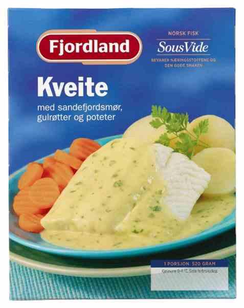 Bilde av Fjordland Kveite med Sandefjordsmør, gulrøtter og poteter.