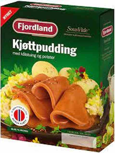 Bilde av Fjordland Kjøttpudding med kålstuing, poteter.