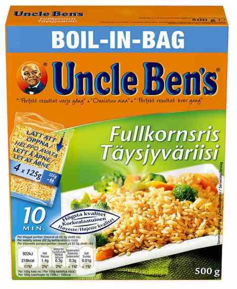 Bilde av Uncle Bens boil in bag fullkornsris.