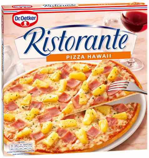 Bilde av DrOetker Ristorante Pizza Hawaii.