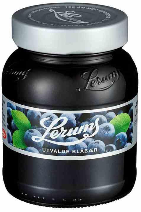 Bilde av Lerum utvalde blåbærsyltetøy.