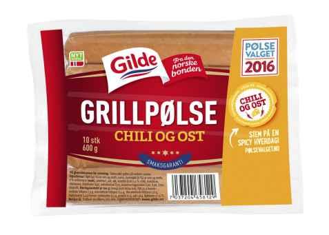 Bilde av Gilde chilipølse med ost.
