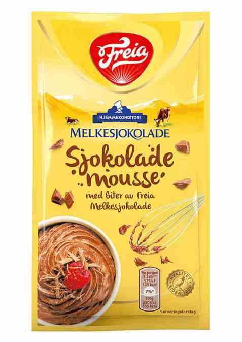 Bilde av Freia sjokolademousse med sjokoladebiter.