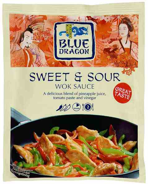 Bilde av Blue Dragon Woksaus sweet and Sour.