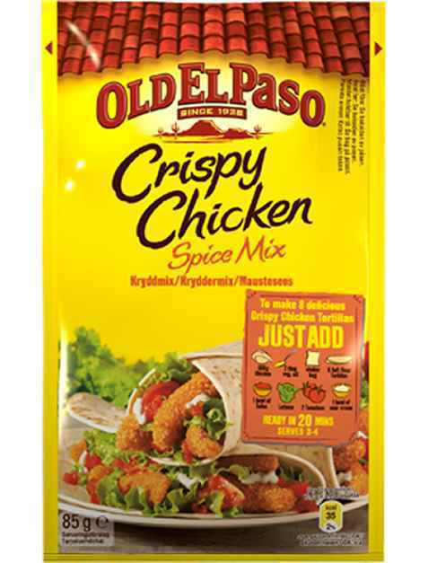 Bilde av Old El Paso spicemix for crispy chicken.
