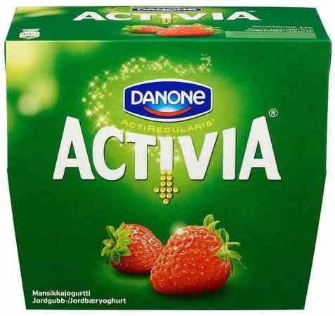 Bilde av Danone Activia yoghurt Jordbær.