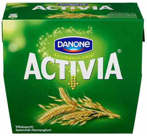 Bilde av Danone Activia yoghurt med korn.