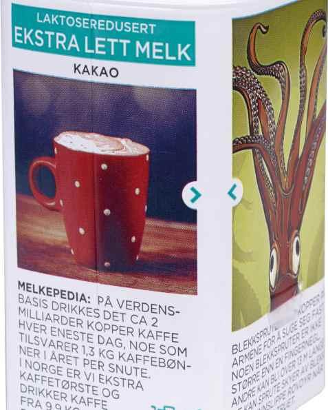 Bilde av Tine Ekstra Lett Melk Mild kakaosmak.