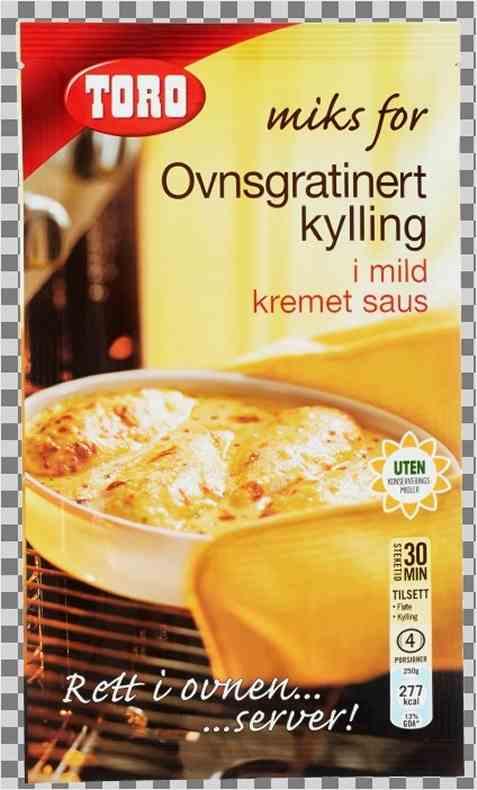 Bilde av Toro Miks for – Ovnsgratinert kylling i mild kremet saus.