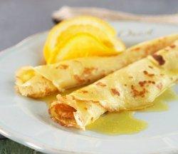 Franske crepes suzettes.