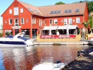 Veldig lett lunsj på fiskebrygga i Kristiansand