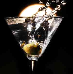 Vodka martini, shaken
