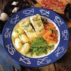 Kokt klippfisk med grønnsaker oppskrift.