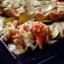 Krabberagu med kylling oppskrift.