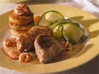 Prøv også Svinemedaljonger med røsti poteter og sjøkreps i s.