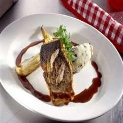 Sprøstekt torsk med rødvinssaus oppskrift.