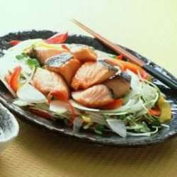 Stekt ørret med sitroneddik oppskrift.