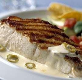 Prøv også Grillet eller stekt kveite med salsa og majonessau.