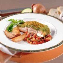 Prøv også Bakt laks med ratatouille.