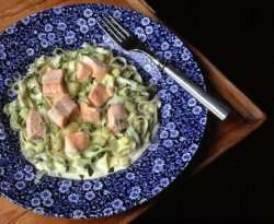 Prøv også Pasta al salmone.
