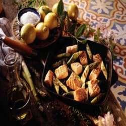 Laks og asparges oppskrift.