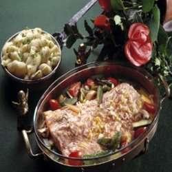 Prøv også Bakt laks med grønnsaker.