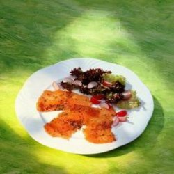 Bilde av R�ykt laks med salat.