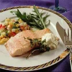 Bilde av Kald laks med gr�nnsaksalsa.