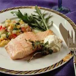 Prøv også Kald laks med grønnsaksalsa.