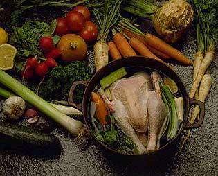 Bilde av Andalusisk h�nsesuppe.