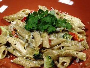 Prøv også Pasta penne med pesto og kylling.