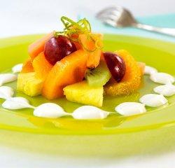 Fruktsalat med Kesam oppskrift.
