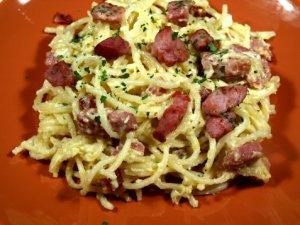 Prøv også Spaghetti alla Carbonara 2.