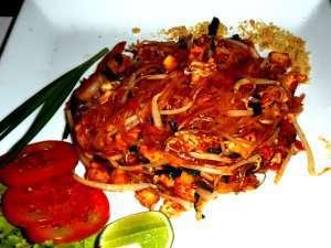 Pad thai (stekte nudler) oppskrift.