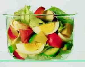 Bilde av Salat med egg og spekeskinke.
