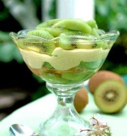 Kiwi Trifle oppskrift.