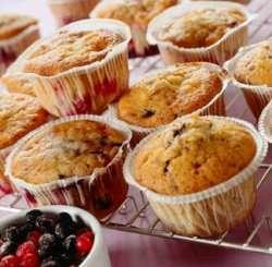 Muffins med bær oppskrift.