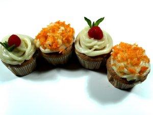Dagens oppskrift er Gulrotkake-muffins.