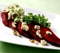 Rødbeter med guacamole oppskrift.