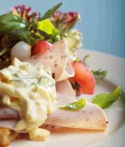 Prøv også Sandwich med eggesalat og kalkunpålegg..